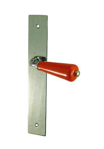 DT 2000 357510 - Manillar de puerta (porcelana y placa niquelada, sin cerradura), color naranja