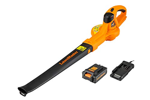 LawnMaster 24V Cordless Leaf Blower | Lightweight Battery Operated Garden Blower with 2.0Ah Battery and Charger