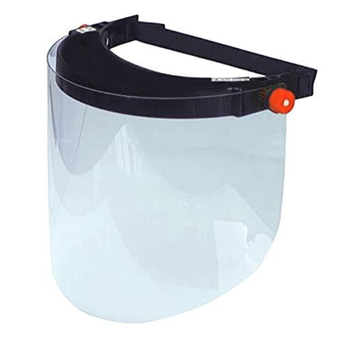 Visera transparente de policarbonato para protección de ojos, cara y trabajo, fabricada en Italia