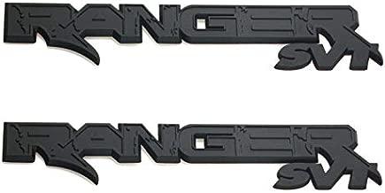 2Pcs Ranger Svt Emblem Door Fender Tailgate 3D Logo Badge Nameplate Replacement for 150 250 (Matte Black)