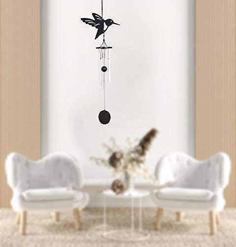 Elinala Windspiele im Freien, Windspiele für Den Garten, Kleine Windspiele mit Metallrohren und Lebendigen Tiermustern für Innen- und Außenornamente (Vogel)