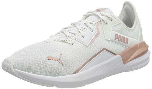 PUMA Damen Platinum Metallic WNS Gymnastikschuh, White-Rose Gold, 39 EU