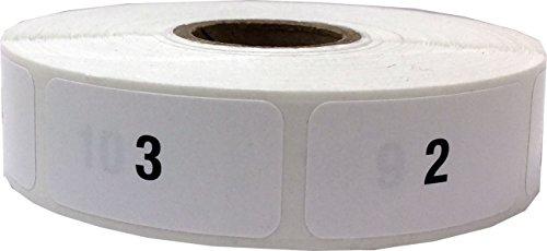 Numeri 1-1000 Etichette Consecutive, 19 x 39 mm 0,75 x 1,5 Pollice Adesivi per l'Inventario 1000 Pacchetto