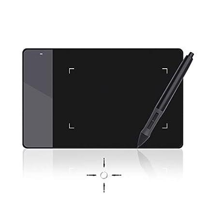 Huion 420 - Tableta Gráfica Digitalizadora, tamaño pequeño (10.1 x 5.6 cm), compatible con Windows y Mac