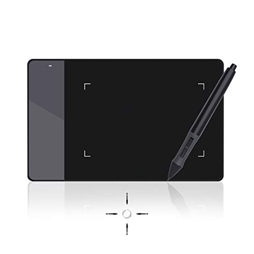 Huion 420 - Tableta Gráfica Digitalizadora, tamaño pequeño (10.1 x 5.6 cm), compatible con Windows y Mac
