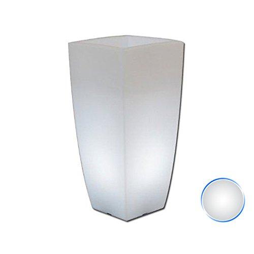 Vaso Agave Quadrato Con Luce Bianca H70 33x33Cm