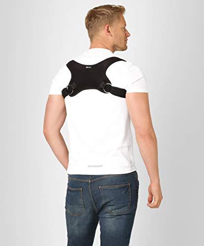 ®BeFit24 Geradehalter zur Haltungskorrektur für Rücken und Schulter für Herren - Wirbelsäulen Stütze - Back Posture Corrector for Men [ Schwarz ]