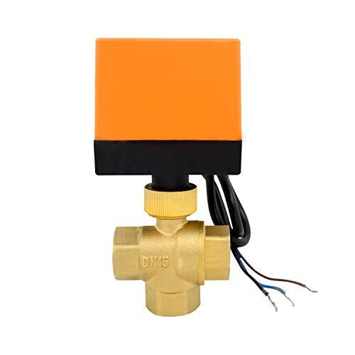 Tipo L -valvula 3 vias motorizada 1/2 3/4 pulgada electrovalvulas AC 220v AC 24v - electrovalvula motorizada de esfera (AC 220V, 1/2 pulgada)