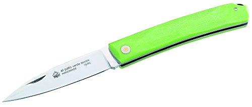 Puma IP Erwachsene Taschenmesser, Stahl 1.4116, 58 HRC, grüne Micarta-Griffschalen, Mehrfarbig, One Size