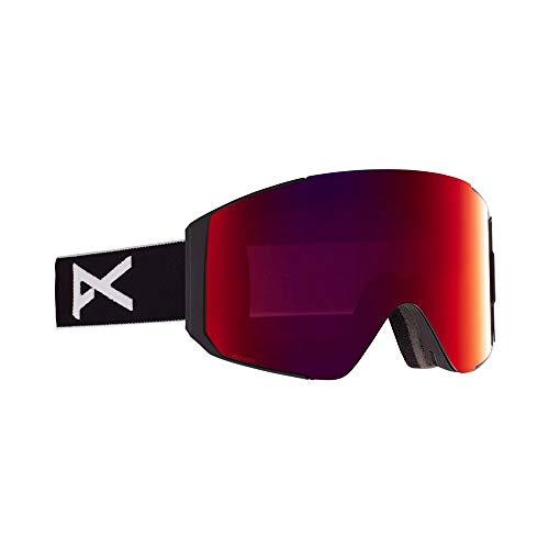 Anon - Gafas de natación para hombre con lente de repuesto, color negro y rojo