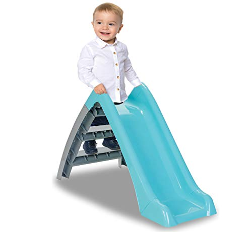 Jamara 460693 Happy Children's Slide-Suitable for Indoor and Outdoor Use, Handy Size, Easy to Assemble, Pastel Green