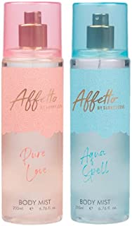 Affetto By Sunny Leone Pure Love & Aqua Spell Body Mist - For Women 200ML Each (400ML, Pack of 2)