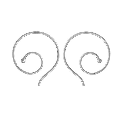 Boma Jewelry Sterling Silver Spiral Pull Through Hoop Earrings