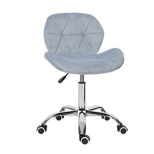 Desk chair,Office Swivel Chair Adjustable Height Computer Chair Comfy Padded Study Chair,Home/Office Furniture,Velvet (Gray)