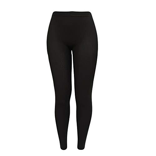 Sockenhimmel THERMO Legging für Damen 3er Pack in schwarz soft & warm mit Innenfleece Winter-Legging (S = 36/38)