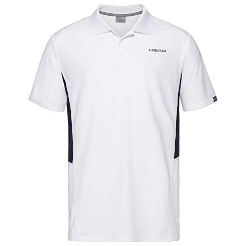 HEAD Herren Polos Club Tech Polo Shirt M, weiß/dunkelblau, XL, 811339-WHDBXL