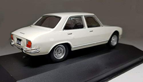 Magazine Models Coche Peugeot 504 Berline Blanco 1969 1/43 Edition limitada