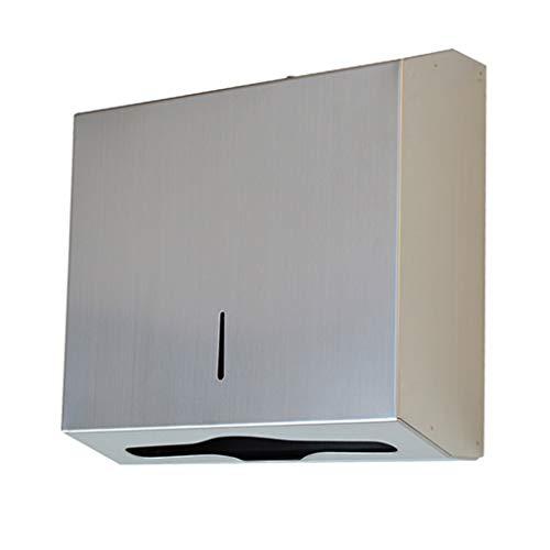Portarrollos para papel higiénico Acero inoxidable montado en la pared dispensadores de toallas de papel con el bloqueo, celulósico comercial dispensador, dispensador de toallas de mano for la Oficina