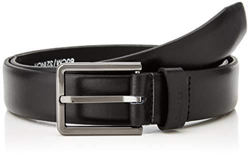 Calvin Klein 3cm Bombed Belt Cintura, Nero (Black 001), 9 (Taglia Produttore: 105) Uomo