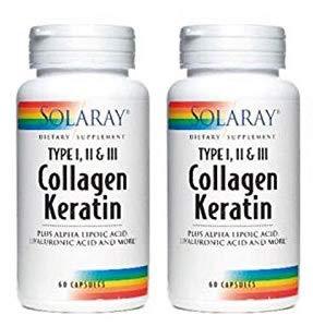 Collagène Kératine - Collagène avec Kératine - 60 capsules (Pack 2 u.)