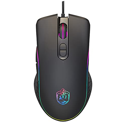 Gaming Multiverse 8000 DPI 1000Hz RGB Wired PROGRAMMABLE+Software for Buttons, RGB and More Gaming Mouse Laptop Desktop 7 Buttons DPI 1000,1600,3200,6400 Up to 8000. Windows VISTA/XP/7/8/10, MAC, OSX