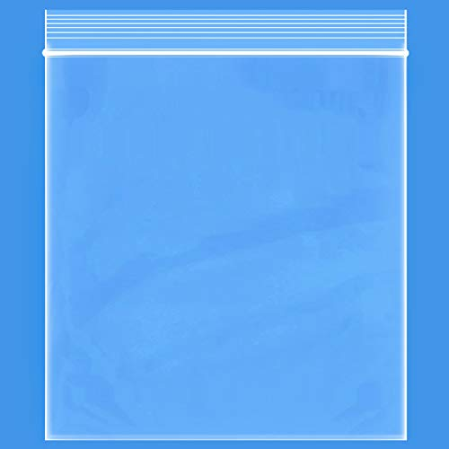 """Edvision 13"""" x 15"""" Plastic Bags, 200 Count 2 Mil Transparent Resealable Zipper Poly Bags, Reclosable Storage Bags for Jewelry Supplies, Beads, Screws, Small Items"""