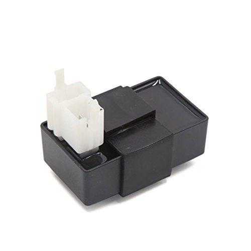 DealMux Negro Plástico 6 pines de la motocicleta Vespa encendedor electrónico de encendido de 125 ZJ