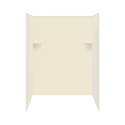 "Transolid RBE4867-08 48"" x 36"" x 72"" Solid Surface Shower Wall Surround in Biscuit"