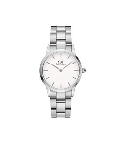 Daniel Wellington Iconic Link, Silber Uhr, 28mm, Edelstahl, für Damen