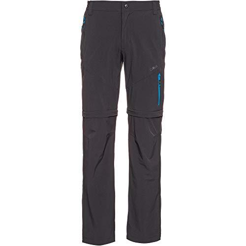 CMP Herren Lange Zip Off Trekkinghose Stretch 30T6517 Hose, Antracite, 52