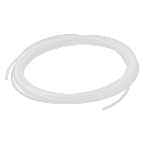 DealMux 4 mm x 2,5 mm poliuretano pneumatico aria PU tubo tubo bianco lungo 6 m