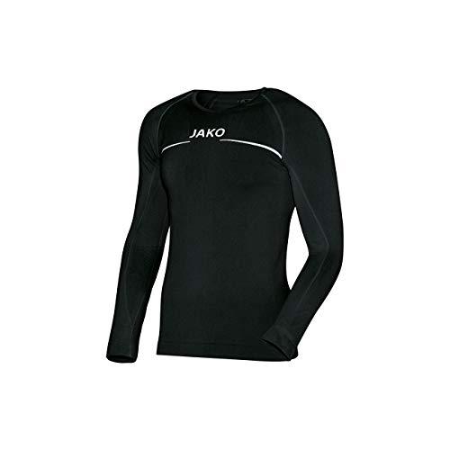 JAKO Longsleeve Comfort - Herren Langarmshirt,schwarz (schwarz), M