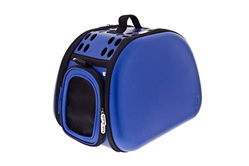 Ferribiella Eva Easy - Sac de transport pour chiens et chats - Bleu et rouge - Sac de voyage pour chien et chat - 43 x 31 x 28 cm (bleu)