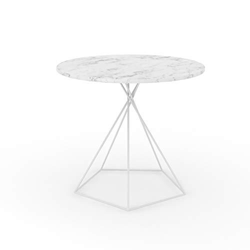 table basse salon nordique en marbre canapé simple coin quelques art de fer petite table ronde (Couleur : C)