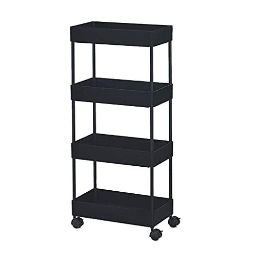 GAXQFEI Foyer Rack Rolling Utility Carts, Plastic Multi-Layer Organizer Cart with Wheels Bathroom Dorm Room Living Room Kitchen Storage Shelves Trolley for Storage,B,22 * 40 * 89Cm