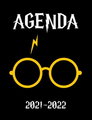 AGENDA 2021-2022: Agenda Harry - Planner 2021 2022 Français - Organisateur Journalier Semainier Mensuel - Ecole - Etudes - Bureau - Famille - De Août 2021 à Août 2022