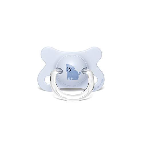 Suavinex - Chupete para bebés -2 4 meses con tetina fisiológica de látex, Perritos Azul