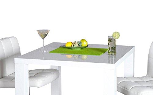 levandeo Bar-Tisch Tresen Weiß Hochglanz Stehtisch Bartresen - 4