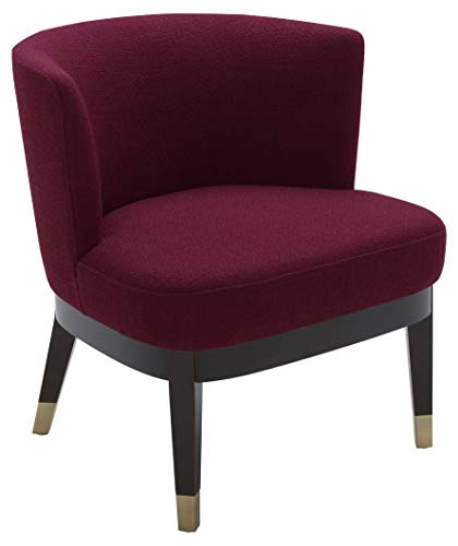 "Rivet Stacey Mid-Century Modern Round-Backed, Armless Living Room Chair, 27""W, Sangria"