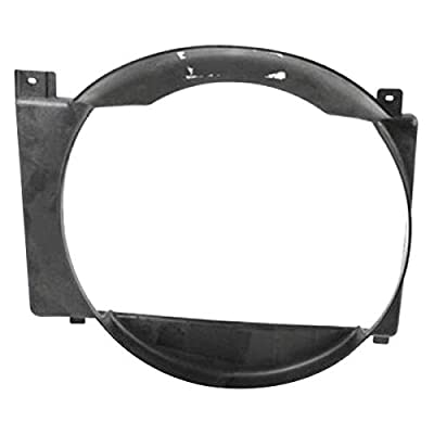 OE Replacement 1997-2001 JEEP CHEROKEE_(MIDSIZE) Engine Cooling Fan Shroud (Partslink Number CH3110104)