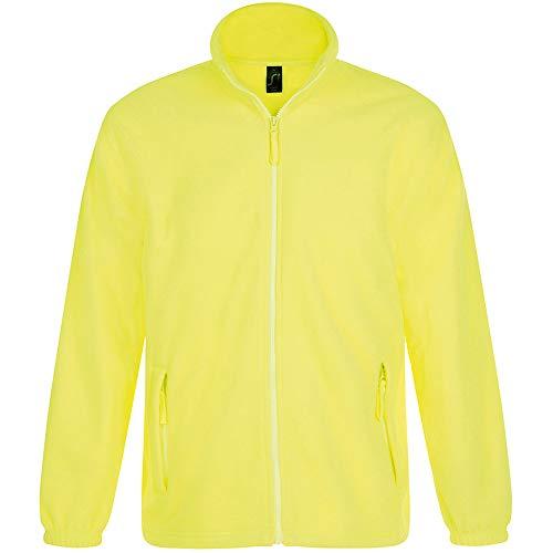 Sols Herren Outdoor Fleece Jacke North (XL) (Neon Gelb)