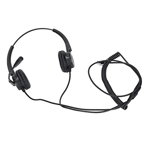 Sren Auriculares De Servicio Al Cliente, Auriculares Comerciales Diseño Ergonómico para Teléfonos Fijos para Teléfonos De Escritorio(VH510D-RJ9 (binaural))