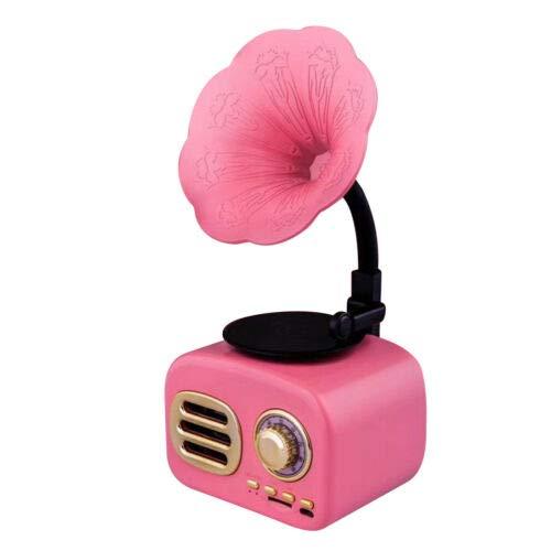 Dreafly Altavoz de gramófono Bluetooth de Estilo clásico Retro Mini Altavoz de Sonido inalámbrico portátil para Oficina en casa