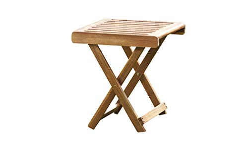 Thompson & Morgan Acacia Hardwood Folding Side Table Pre-Treated Garden Furniture (Acacia Folding Side Table)