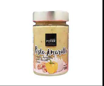 Maison Potier- Salsa de Pesto Amarillo lista para tomar ( Queso Ricotta y Nuez) Inspirado en la Gran Tradicion de la cocina Mediterranea-180 g