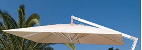 Megashopitalia Top Telo di Ricambio per Ombrellone Decentrato in Alluminio 3x3 Metri a 8 Stecche con Airvent Cucito Colore Ecrù Solo Telo