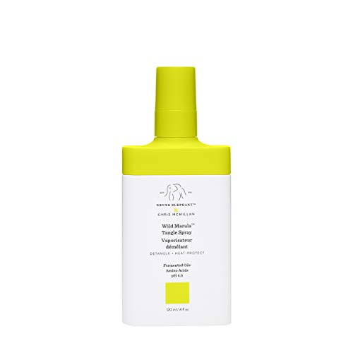 Drunk Elephant Wild Marula Tangle Spray. Weightless and Heat-Protectant Detangler for Hair. (4 fluid ounces)