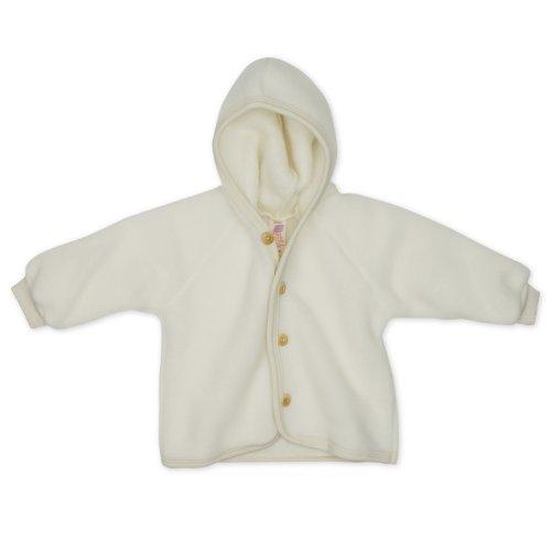 Baby Jacke Fleece, Schurwolle, Engel Natur, Gr. 50/56, Natur