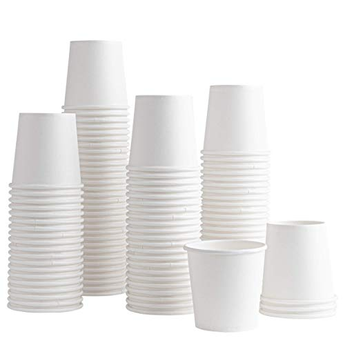 [100 Pack] 6 ounce Paper Hot Cups Disposable Coffee Cup for Bathroom, Espresso, Mouthwash, Cold, or Hot Drinks, Tea, Coffee, Hot choclate