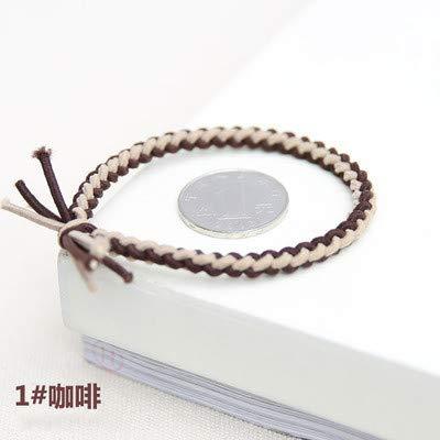 Koreaanse Meisje Hartje Haar Kleine Lederen Band Kinderen Rubber Band Haar Ring Baby Haar Decoratie Zwart Eenvoudige Haar Touw Hoofdstuk (12 Outfits) C